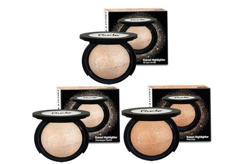 Rude Cosmetics Baked Highlighter 3 Shades (RC-BHI3)