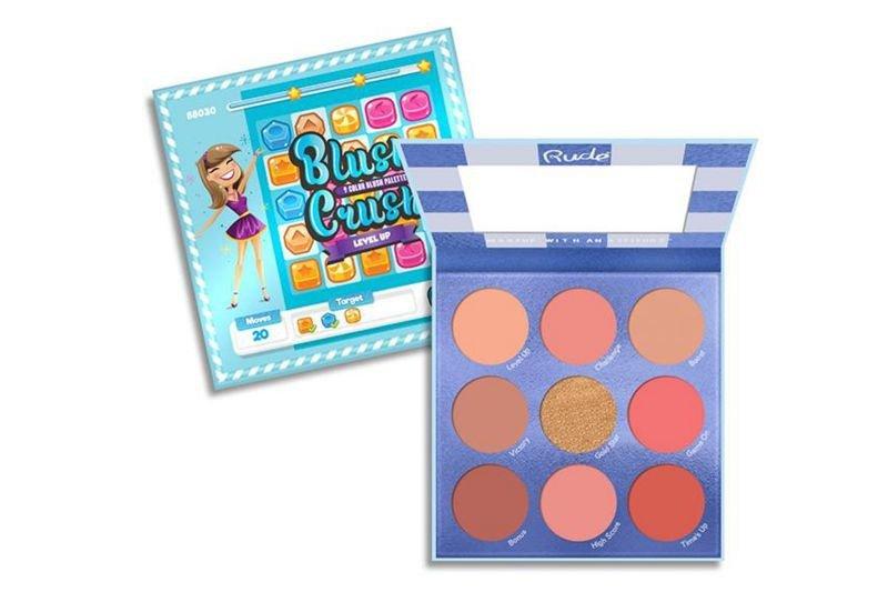 Rude Cosmetics Blush Crush 9 Color Blush Palette - Level Up (RC-88030)