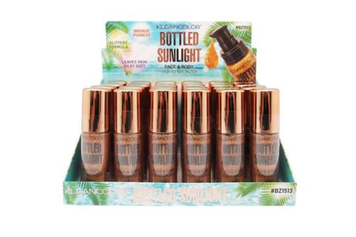 Kleancolor Bottled Sunlight Face & Body Liquid Bronzer Display (BZ1513)